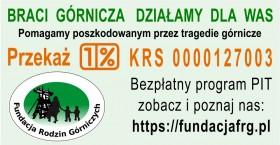 Przekazanie 1% należnego podatku na rzecz Fundacji Rodzin Górniczych